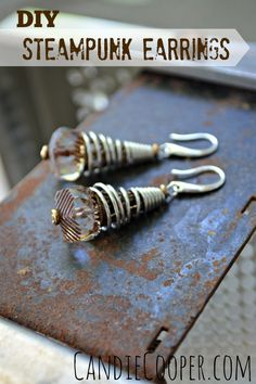 How to Make Steampunk Jewelry  Earring tutorial with Beadalon's Conetastic Tool