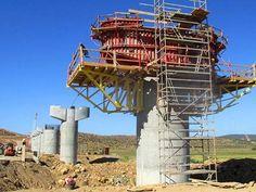 """Construcción de """"El Hachef. El #viaducto más grande jamás construido en #Marruecos. vía Twitter @solestudiosing #Ingeniería"""