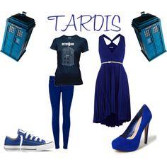 Tardis. Doctor Who. love the dress
