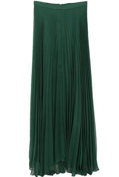 06c08d652 Alice + Olivia Shannon Pleated Maxi Skirt in Emerald: wish i was taller and  i