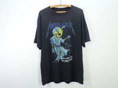 Super Distressed / Thrashed METALLICA T-Shirt Men's by DeadOldLady