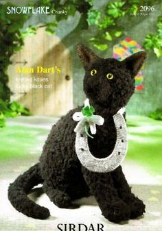 Alan Dart's Knitted Kitties: Lucky Black Cat (Sirdar Knitting Pattern 2096) , http://www.amazon.co.uk/dp/B004ZU4HPU/ref=cm_sw_r_pi_dp_evNitb0XFSVRQ