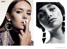 My Generation–The September issue of Elle Canada features a blast from the past with this 60s inspired makeup shoot. Photographed by Owen Bruce, the models take on standout beauty styles including spider-eyelashes and bold eyeshadow colors courtesy of makeup artist Sabrina Rinaldi. Hair also has a sixties theme with side ponytails and short, Twiggy inspired …