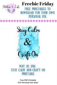 Love to craft like me well I have created a Stay Calm and Craft On free printable to add to your desk or home decor.  Downloadable file on my site.