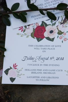 Beautiful red wedding invitations by #BeholdDesignz.