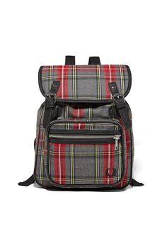 Fred Perry - Tartan Backpack Grey