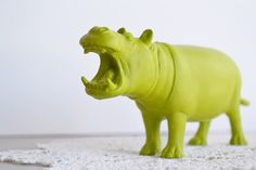 lime green hippo. must have.