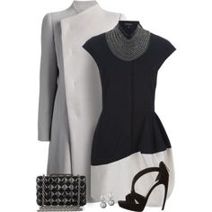 """""""Grey Coat"""" by quirkyoak on Polyvore"""