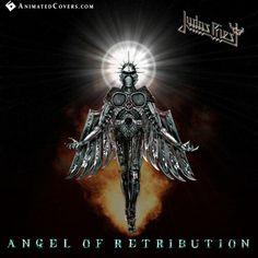Judas Priest - Angel Of Retribution (animated cover) Metal On Metal, Heavy Metal Art, Power Metal, Heavy Metal Bands, Judas Priest Albums, Rock N Roll, Rock Album Covers, Pochette Album, Extreme Metal