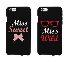 Amazon.com: Cute BFF Phone Cases - Miss Sweet and Miss Wild Matching Phone Cases for iphone 4, iphone 5, iphone 5C, iphone 6, iphone 6 plus, Galaxy S3, Galaxy S4, Galaxy S5, HTC One M8, LG G3: Cell Phones & Accessories