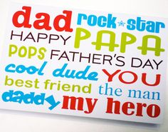 Free Printable Fathers Day Cards | Father's Day Printables Roundup | Paper Crave