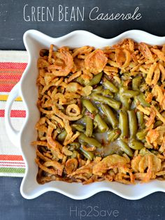 Green Bean Casserole Recipe - a major must have for our Thanksgiving meal!
