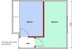 Divide a large room into two with partition wall 3d - How to divide a living room into a bedroom ...