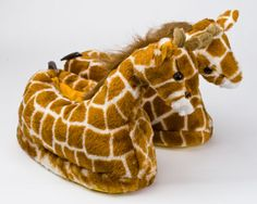 Giraffe Slippers: Keeping your feet warm, from the savannah to your own home.