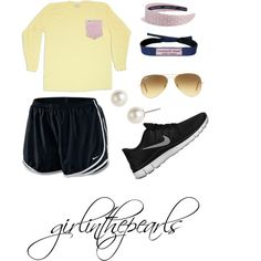 """Preppy Girl Lazy Day"" by girlinthepearls on Polyvore cheap nike free 5.0 only $49, save up to 60% off"
