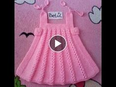 Diy Crafts - Dress up Bibi nail art (art of knitting) to continue until the end of the dress Crochet Romper, Knit Baby Dress, Crochet Baby Clothes, Baby Dress Tutorials, Baby Dress Patterns, Baby Cardigan Knitting Pattern, Baby Knitting, Diy Crafts Dress, Diy Dress