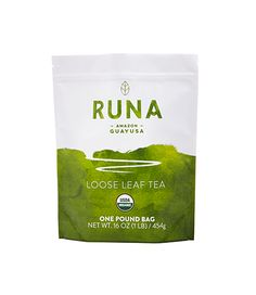 RUNA Organic Guayusa Loose Leaf Tea, 1 Pound Packed with Natural Caffeine for sale online Organic Supplies, Organic Cleaning Products, One Pound, Loose Leaf Tea, Nom Nom, Coffee, Traditional, Amazon, Runes