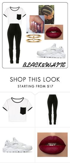 """""""Untitled #140"""" by gummyzz ❤ liked on Polyvore featuring beauty, WithChic, Balmain, NIKE and Sophie Bille Brahe"""