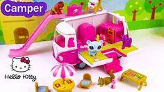 LPS Pinkie Pie Disney Frozen Queen Elsa RV CAMPER Jacuzzi Pool Water Play Playset PinyPon Review - YouTube