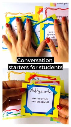 Need fun conversation starters for kids? Want to get them speak and think about various topics? Grab this set which is a treasure full of ESL speaking activities for kids. English Activities For Kids, English Lessons For Kids, Esl Lessons, Esl Writing Activities, Teach English To Kids, English Games, Activities For Adults, Spanish Activities, Vocabulary Activities