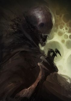 A Blood Knight leading a horrific army of the Undead Dark Fantasy Art, Dark Art, Dark Creatures, Mythical Creatures, Arte Horror, Horror Art, Mystique, Creepy Art, Monster Art
