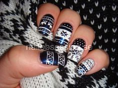 Nordic Pattern Nails