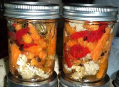 Pickled Baby Carrots, Cauliflower & Roasted Red Pepper...Oh, So Delicious!