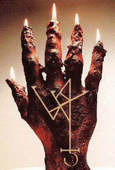 Hand of Glory: The severed hand of a hanged man used by thieves