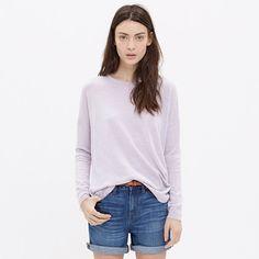 A soft, swingy merino sweater with a cool exaggerated shirttail hem. Light, easy and a soon-to-be essential.<ul><li>Swingy fit.</li><li>Merino wool.</li><li>Dry clean.</li><li>Import.</li></ul>