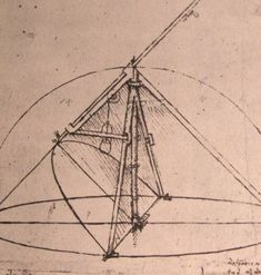 Page: Design for a parabolic compass  Artist: Leonardo da Vinci  Completion Date: c.1500  Place of Creation: Italy  Style: High Renaissance  Genre: design  Technique: ink  Material: paper