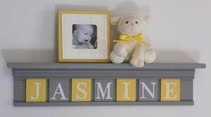 gray infant bedding | Yellow Gray Nursery Wall Art - Grey Yellow Baby Girl Nursery Decor ...