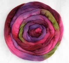 Handpainted Rovings  Polwarth Wool and Silk by CapistranoFiberArts, $13.00