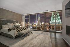 From a NYC full-floor condo with a stunning Empire State Building view to a Santa Barbara modern residence with panoramic vistas of the ocean, these eight luxury bedrooms will leave you breathless: Modern Bedroom Furniture, Modern Bedroom Design, Contemporary Bedroom, New York Bedroom, City Bedroom, Condo Bedroom, Luxury Condo, Luxury Apartments, Luxury Homes