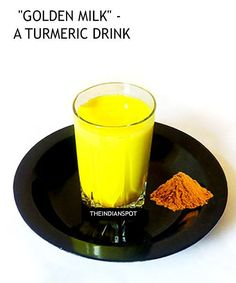 Turmeric milk or Haldi doodh- This drink is very well-known for Indians. It is sort of grandma's recipe, a drink that can be had almost anytime and by anyone...