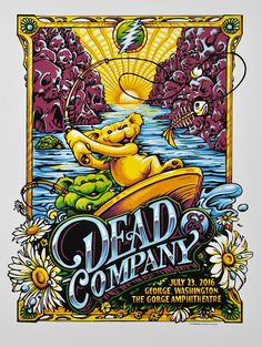 8 color linoleum block print on Stonehenge paper stock with a single deckled edge 18 x 24 inches Signed and numbered Artist edition of 50 Grateful Dead Image, Grateful Dead Poster, Grateful Dead Dancing Bears, Rock Posters, Concert Posters, Music Posters, Screen Print Poster, Poster Prints, Dead Images