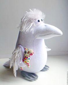 Купить Белая ворона Маруся - белый, белая ворона, интерьерная игрушка, веселая игрушка