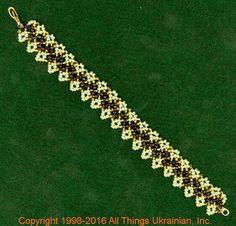 Gherdany Bead Jewelry # GBR1680  on AllThingsUkrainian.com