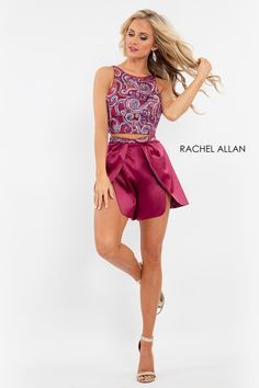 Homecoming Dress: 4633 in Deep Magenta Homecoming Romper, Homecoming Dresses, Dress Prom, Two Piece Jumpsuit, Two Piece Dress, Dance Dresses, Short Dresses, Formal Dresses, Magenta