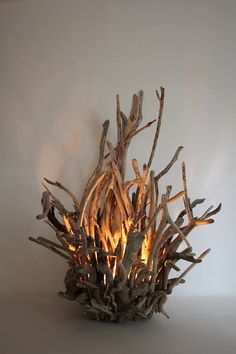 Driftwood Lamp Table or Floor Standing Lamp Contemporary