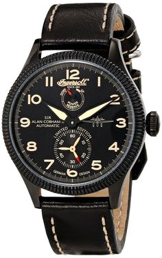 Ingersoll Men's IN3107BBKO Cobham II Analog Display Automatic Self Wind Black Watch. Automatic movement with seconds sub dial and power reserve indicator. 45mm stainless steel case. Automatic-self-wind movement. Case diameter: 45mm. Water resistant to 165 feet.
