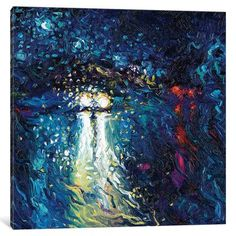 "Latitude Run Mini Cooper Oncoming Painting Print on Wrapped Canvas Size: 26"" H x 26"" W x 1.5"" D"