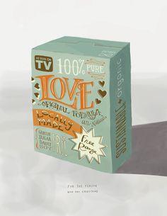 Valentine's art print: Box of Love. (Hey, it's free range!)