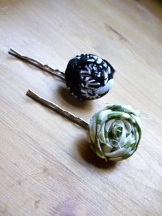 DIY Flower Bobby Pins