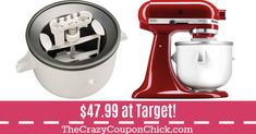 **HOT** KitchenAid Ice Cream Attachment ONLY $47.99 (Originally $80) at Target! Kitchenaid Ice Cream Attachment, Kitchen Aid Mixer, Kitchen Appliances, Target Deals, Hot, Diy Kitchen Appliances, Home Appliances, Kitchen Gadgets