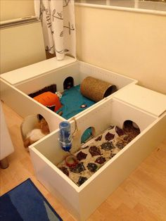 Ikea hack guinea pig cage-- Love the little door idea!!