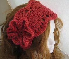 Free+Crochet+Headband+Ear+Warmer   Lacy Ear Warmer/ Headband pdf crochet by CrochetBabyBoutique