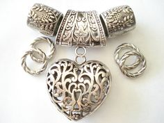 Scarf Jewelry Necklace Pendant Heart Shape For by coreringscarf, $11.99