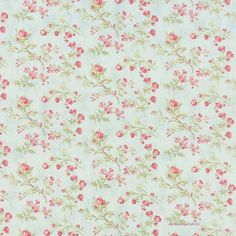 Cottage Chic Fabric with Roses. Moda 3 Sisters Favorites 3770 14 Sea Glass. 44/45 wide. 100% cotton quilt fabric.  So sweet & lovely. Light