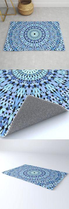 Light Blue Gravel Garden Mandala Rug by David Zydd #MandalaRug #BestRugs #Mandala #Blossom #Gift #BohoDecoration #SacredGeometry #Room (tags: mandala, mandala decoration, art, light, gift idea, rug, design, arts, blue, decor, living room, mandala home decoration, gift design, mandala rug, decoration, mandala decor, interior design, artwork, interior, home) Mandala Rug, Mandala Artwork, Gravel Garden, Sacred Geometry, Cool Rugs, Yoga, Hippy, Home Design, Design Art
