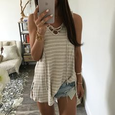 The Heather Lace Up Tunic